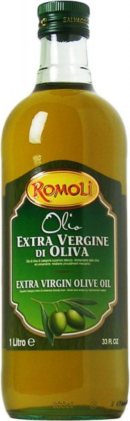 Olio Extra Vergine di Oliva, Natives Olivenöl Extra, erste Güteklasse, Blend EU, 1000 ml, Romoli, Su
