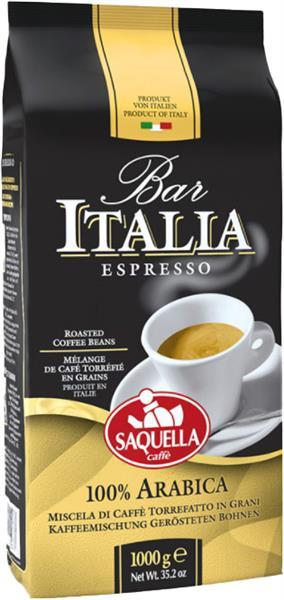 Bar Italia 100% Arabica, Espresso, Bohnen, 1kg, Linie Bar, Saquella
