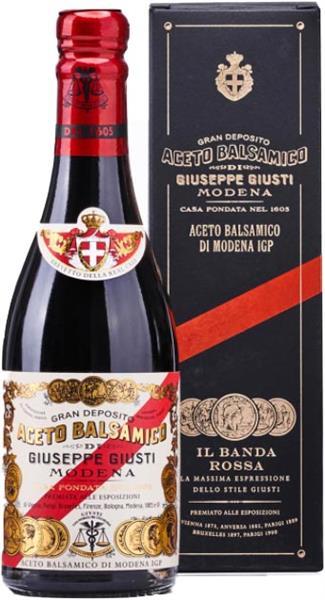 """Aceto Balsamico di Modena """"Banda Rossa"""" 5 Goldmedaille, 250ml, Giuseppe Giusti"""