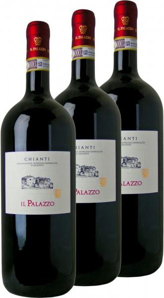 3x Chianti DOCG Il Palazzo, Magnum, 1,5 Liter