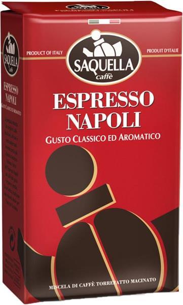 Saquella Espresso Napoli Gusto Classico ed Aromatico, gemahlen, 250g